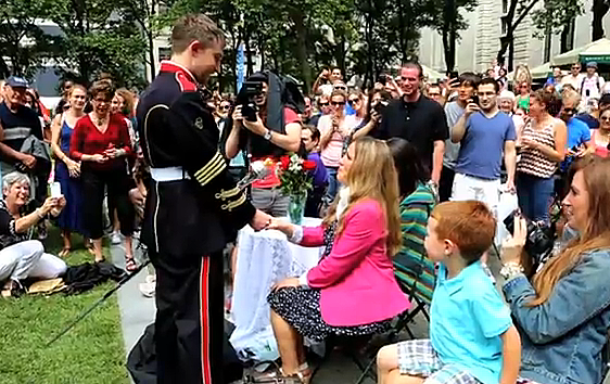 Another Awesome Marriage Proposal This One Includes A Flash Mob