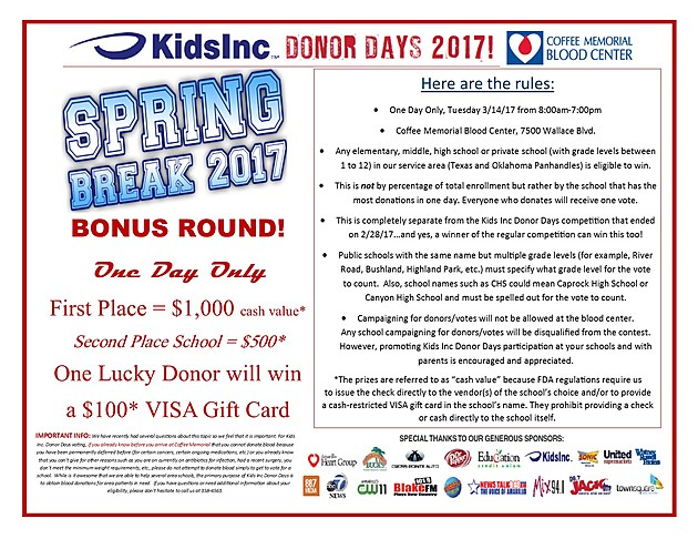 BONUS ROUND SPRING BREAK flyer